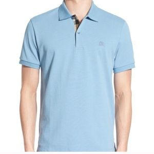 Burberry Men's Nova Check Polo Shirt Sz XL